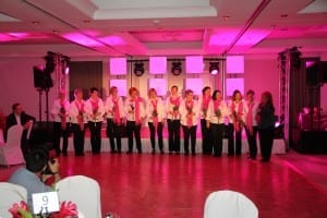 """Danksagung für den tollen Auftritt vom Chor """"Pink Voices"""" unter der Leitung von Joy Green"""