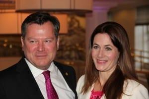 Josef Schmid; Zweiter Bürgermeister der Landeshauptstadt München und seine Frau Natalie Schmid; Estee Lauder Companies GmbH