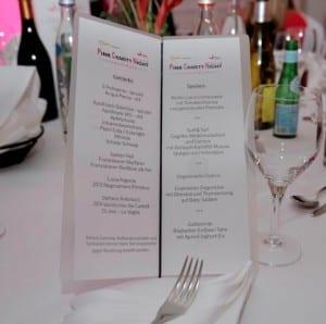 Menü Pink Charity 2015