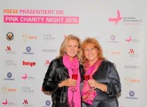 Ehrengast und Botschafterin von Brustkrebs Deutschland e.V.: Andrea L'Arronge  mit Renate Haidinger