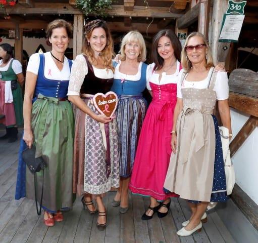 Heidrun Gärtner, Natalie Schmid, Elke Reichart,  Doris Fuldauer, Sybille Beckenbauer